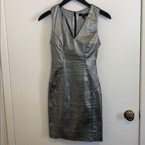 ANGL S/L Metallic Dress in Size S